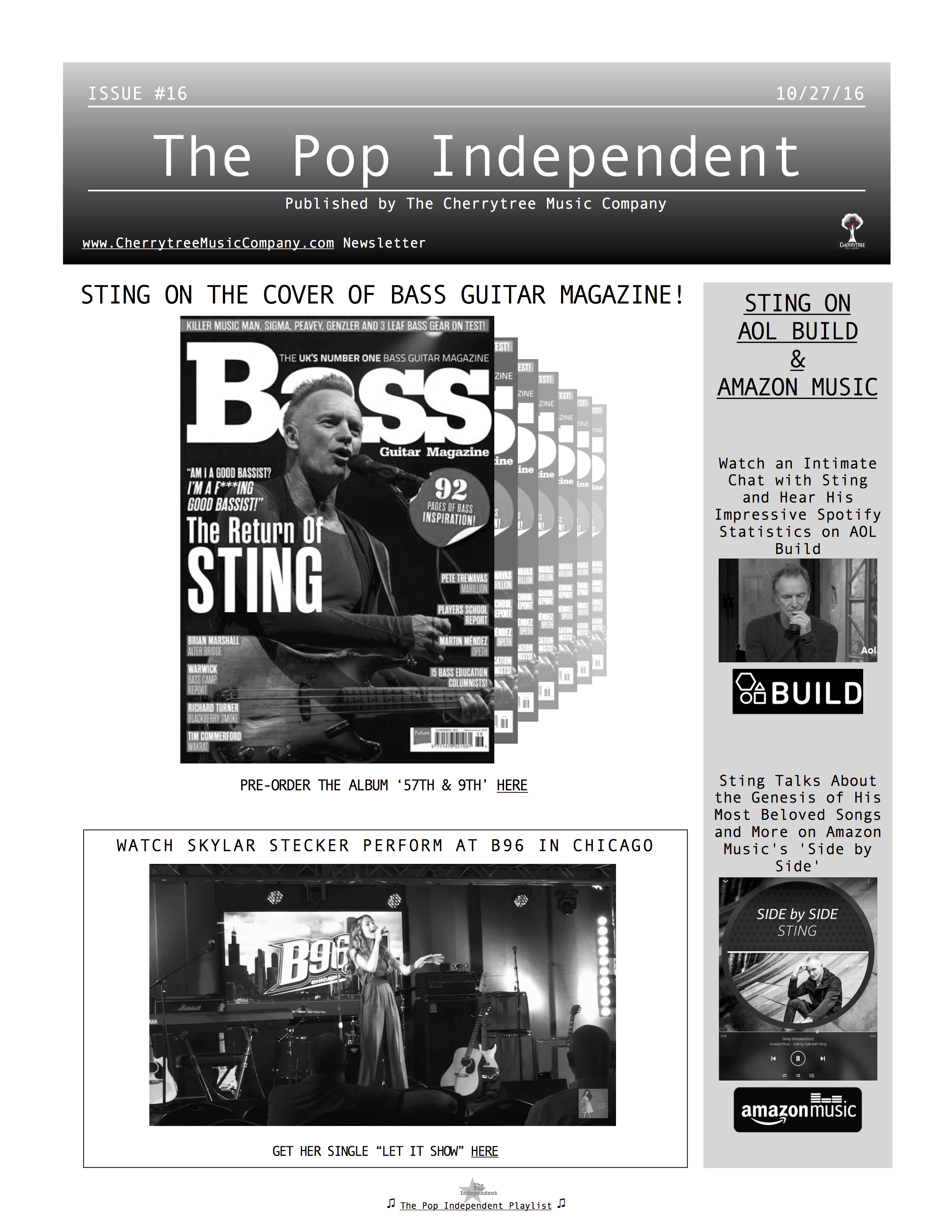 The Pop Independent, issue 16